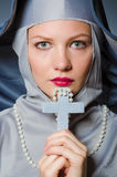 Young nun in religious. Concept Royalty Free Stock Photography