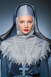 Young nun in religious Royalty Free Stock Photo