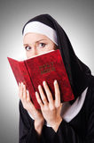 Young nun Royalty Free Stock Photo