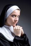 The young nun in religious concept Royalty Free Stock Photos