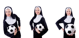 The young nun in religious concept Royalty Free Stock Image