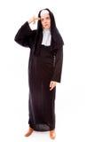 Young nun thinking Stock Photos