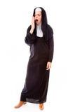 Young nun yawning Royalty Free Stock Photos