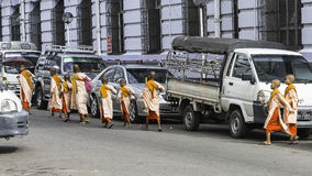 Young nuns in Yangun Stock Photo