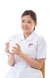 Young nurse break Stock Photo