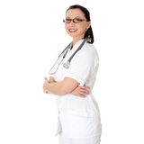 Young nurse or female doctor Royalty Free Stock Photography