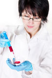 Young nurse holding a syringe Stock Photography