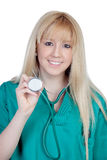 Young nurse with long hair Royalty Free Stock Photos
