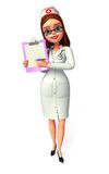 Young nurse with notepad Royalty Free Stock Photos