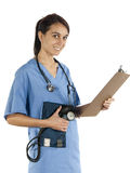 Young nurse practitioner ready to take vital Stock Photos