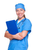 Young nurse smiling Stock Image