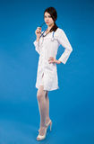 Young nurse with a stethoscope Stock Images