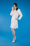 Young nurse with a stethoscope Royalty Free Stock Photo