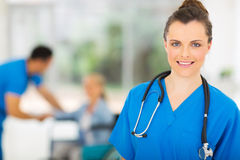 Young nurse stethoscope Stock Photography