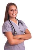 Young nurse student. Studio shot Royalty Free Stock Photography