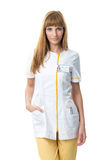 young nurse in work clothes Royalty Free Stock Photography