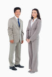 Young office employees standing together Royalty Free Stock Image