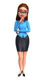 Young Office Girl Royalty Free Stock Images
