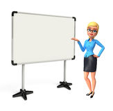 Young office girl with display board Stock Photos
