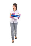 Young Office Girl With Documents. Stock Photos