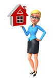 Young office girl with home Royalty Free Stock Images