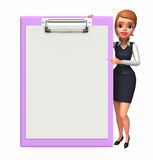 Young office girl with notepad Royalty Free Stock Photo