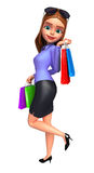 Young Office Girl with shopping bags Stock Image