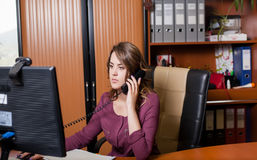 Young office woman worker Stock Photo