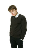 Young Office-Worker In Dark Sweater. royalty free stock photography