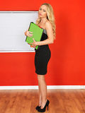 Young Office Worker Holding Businness Files Stock Photography