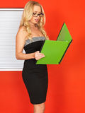 Young Office Worker Holding Businness Files Royalty Free Stock Photo