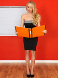 Young Office Worker Holding Businness Files Stock Images