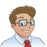 Young Office Worker. Vector illustration of a smiling young office worker Stock Image