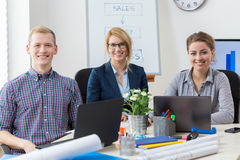 Young office workers Stock Image