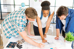 Young office workers or students as a team Stock Images