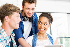 Young office workers or students as a team Royalty Free Stock Photography
