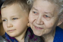 Young and old royalty free stock images