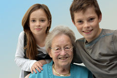 Young and old Stock Photography