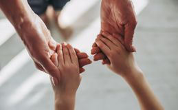 Young and old hands Royalty Free Stock Photography