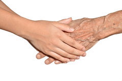 Young And Old hands Royalty Free Stock Photos