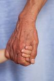 Young and old hands Stock Photography