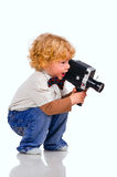 The young operator Royalty Free Stock Photos