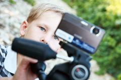 Young operator. Stock Image