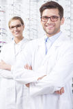 Young opticians specialists Stock Image