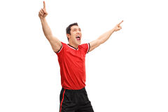 Young overjoyed sportsman Royalty Free Stock Photography