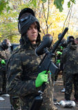 Young paintball player Stock Images