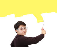 Young painter stock photo