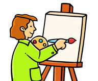 Young painter artist Stock Photography