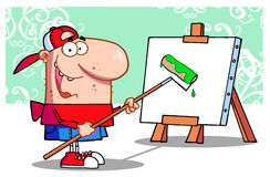 Young painter guy Stock Photography