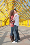 Young Pair Kisses Stock Photography